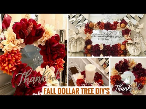 DOLLAR TREE FALL DIYs!    Glam Fall Home Decor Ideas 2018!