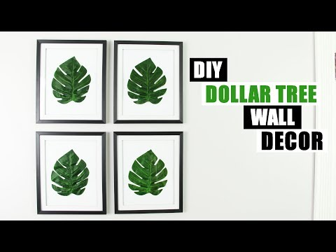 DIY DOLLAR TREE WALL DECOR DIY Palm Leaf Home Decor Idea