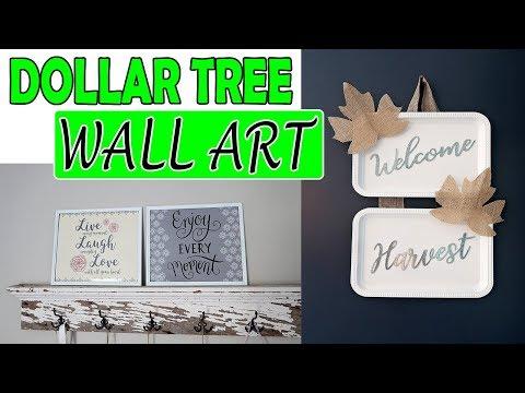 DOLLAR TREE DIY WALL DECOR ART
