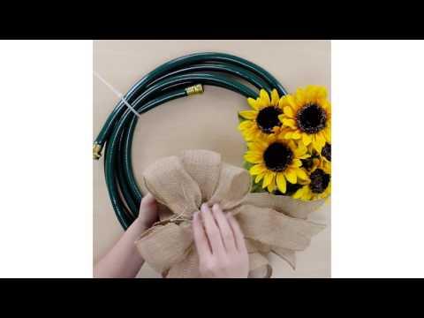 DIY Garden Hose Wreath Tutorial | Budget Home Decor Crafts