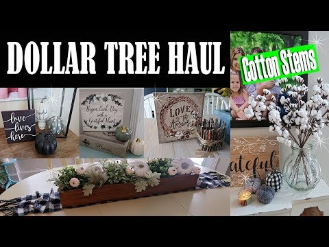 DOLLAR TREE HAUL – FALL DECOR 2018