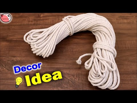 Wall Decor Craft Idea 👉 Rope 👈    Wall hanging Showpiece Making at Home    DIY Home Decor Craft