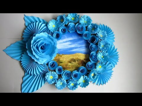 DIY. Simple Home Decor. Wall Decoration. Hanging Flower 112. Paper Craft Ideas. Photo Frame