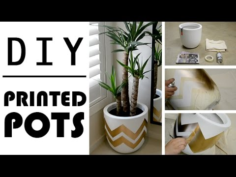 DIY Home Decor! PRINTED PLANT POTS ! ღ ღ ღ