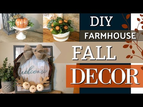 DIY Farmhouse Fall Decor | Dollar Tree DIY Fall Ideas 2018 | Krafts by Katelyn