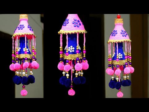 How to Make Wind Chime/Wall Hanging at Home | DIY Room Decor | Jhumar Craft from Wool