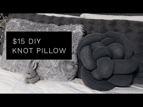 $15 DIY Knot Pillow ( SO EASY!) | Pinterest Inspired | Minimalist Home Decor | NOVAKATE