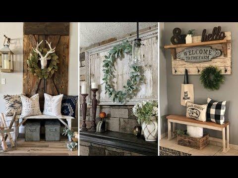 ❤ DIY Farmhouse style shelving and Wall decor Ideas❤ | Home decor & Interior design| Flamingo Mango