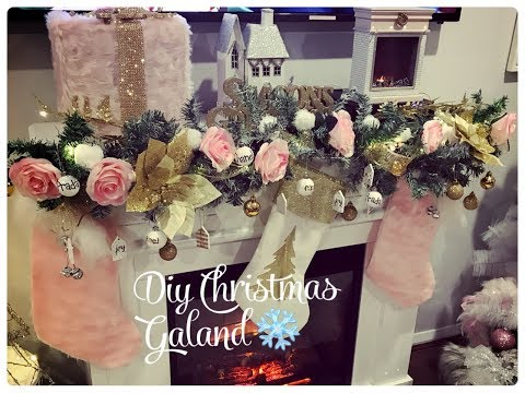 GLAM CHRISTMAS HOME DECOR  DIY CHANEL INSPIRED CHRISTMAS GARLAND