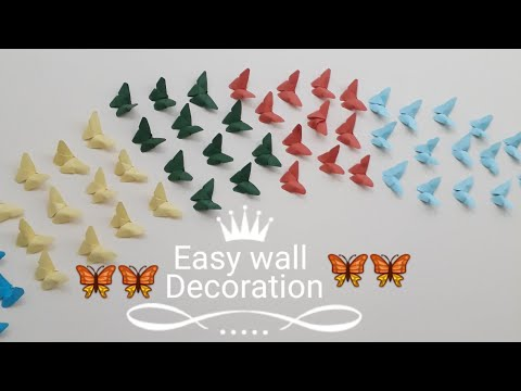 Easy Wall Decoration l  DIY Butterflies Wall Decor Wall Decor Idea
