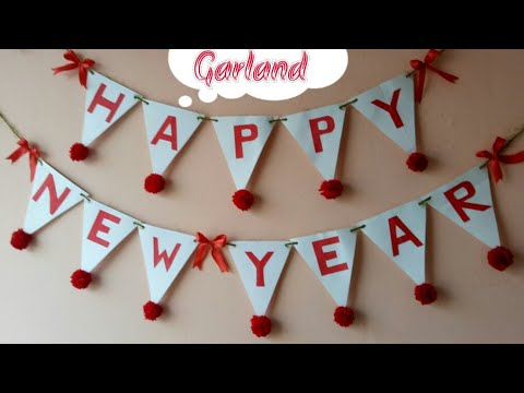 DIY Happy New Year Garland|New year decor idea|Making Banner for new year party|Home decor ideas