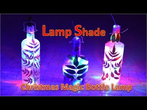 DIY Art Attack | Best Christmas Lamp Home Decor Ideas With Glass bottle & Leaf at Home.