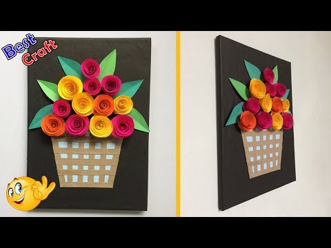 How To make Rose Flower with Frame | Home Decor | Best idea | DIY Paper Craft | wall decor -Dots DIY