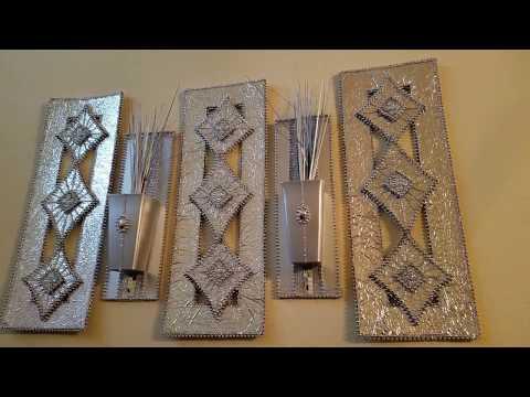 DIY DOLLAR TREE GLAM VASE WALL ART | DIY MIRROR for  HOME DECOR and Room decor