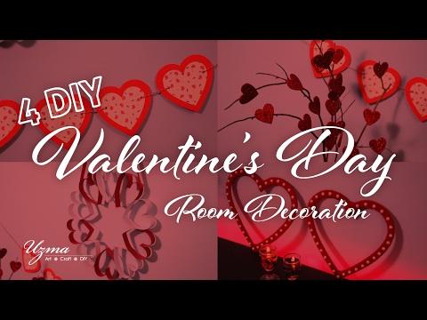 Valentine's Day Decoration Ideas   4 DIY Home Decor ideas