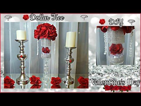 DOLLAR TREE  DIY 2017 | Glam Floral Rose Arrangement Wedding Home Decor Craft