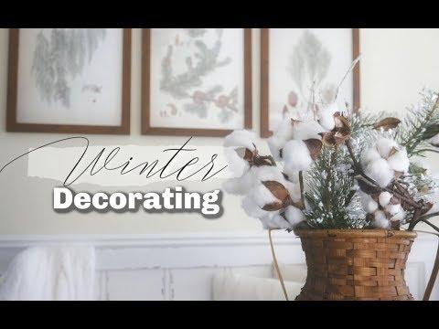 WINTER DECORATING IDEAS | FARMHOUSE WINTER DECOR TOUR