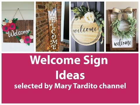 Welcome Signs Ideas – Crafts Ideas to Make and Sell – DIY Home Decor Inspo