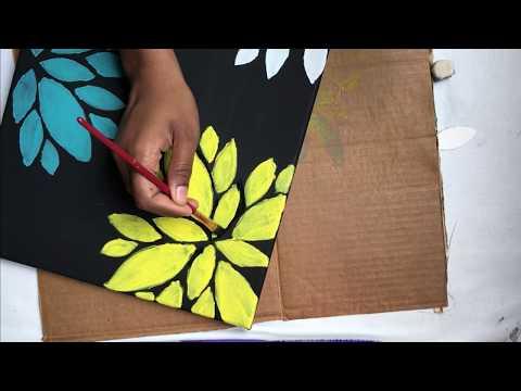 Easy DIY Canvas Arts / Wall Decor / Stencil Art / Home Decor /BirthDay Gifts