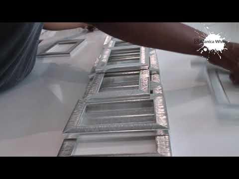 Poundland Silver Photo Frames Wall Art || Home Decor DIY