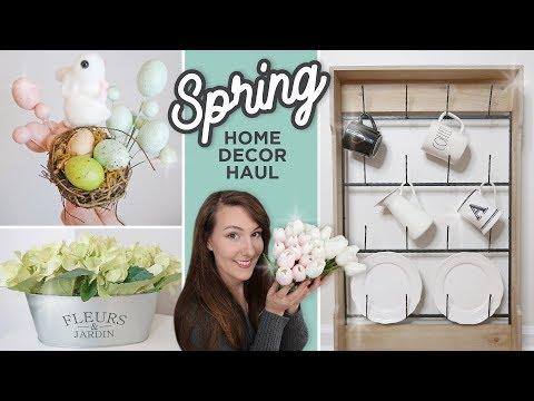 Spring 2019 Home Decor Haul | Kirklands | Dollar Tree | Hobby Lobby | Amazon | Easter Decor Haul
