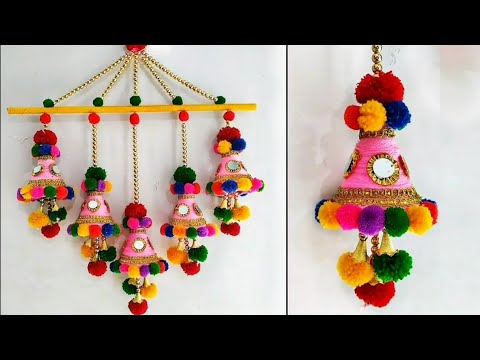 DIY Wall Hanging Out Of Waste Plastic Bottle and Wool/ Home Decor Idea