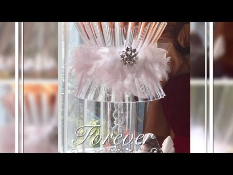 Dollar Tree DIY Home Decor Hacks Lamp Wedding Bridal Shower Or Baby Shower Centerpiece Ideas 2017
