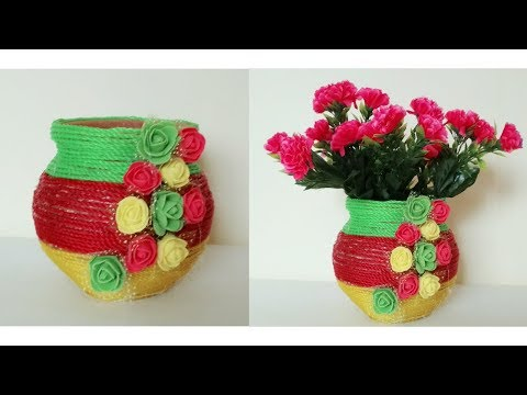 || DIY Home Decor IDEA || Simple And Easy Flower Pot ||