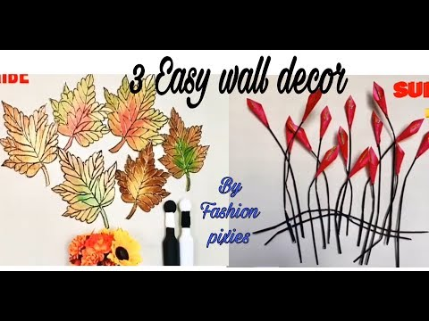 3 diy wall art/wall hanging craft/diy home decoration/room decor ideas/Fashion pixies