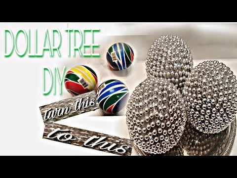 DIY HOME DECOR CENTERPIECES DOLLAR TREE DIY BEADED BALLS