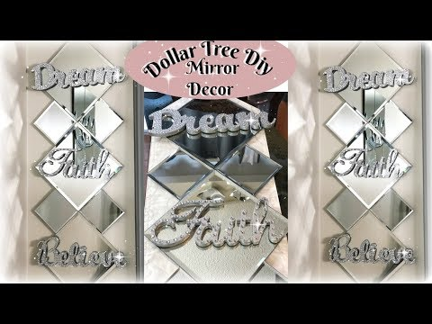 DOLLAR TREE DIY GLAM MIRROR DECOR | DIY EASY INEXPENSIVE GLAM HOME DECOR IDEAS 2019
