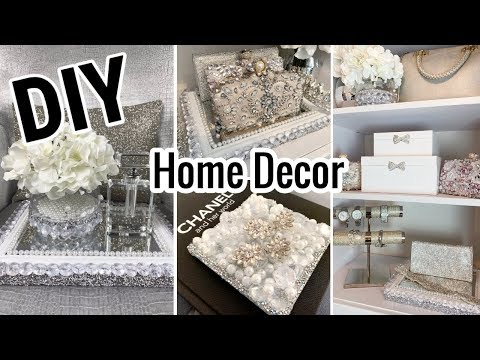 Dollar Tree DIY Home Decor Ideas | Glam Mirror Dollar Tree DIY | LGQUEEN Home Decor