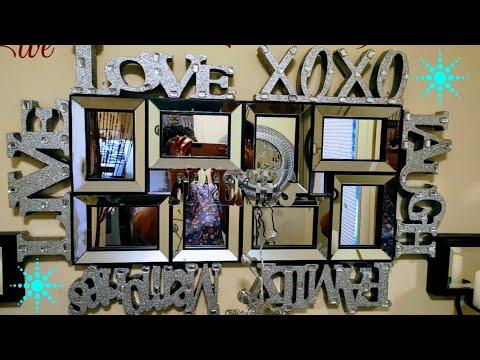 Dollar Tree DIY mirror ideas |glam wall mirror | home decor