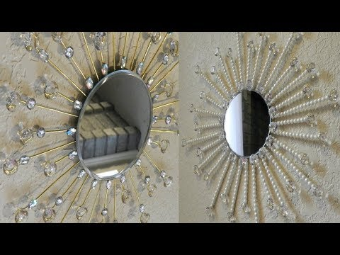 Dollar Tree DIY Diamonds & Pearls Starburst Mirror Home Decor| DIY Elegant Handmade Mothers Day Gift
