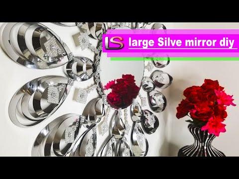 DIY Mirror DIY Decor | Large Silver Mirror DIY