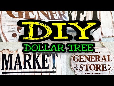 Dollar Tree DIY Farmhouse Decor / DIY Farmhouse Kitchen Decor