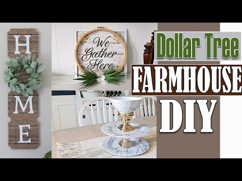 Dollar Tree DIY Room Decor 2019 ⭐DIY Farmhouse Wall Decor GIVEAWAY!