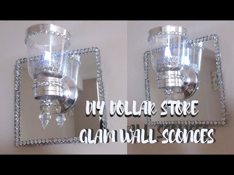 DIY DOLLARSTORE GLAM WALL SCONCES, WALL LIGHT – Home Decor 2019