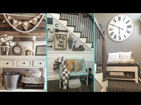 ❤ DIY Shabby Chic Style Small Entrance decor Ideas ❤| Home decor & Interior design | Flamingo Mango