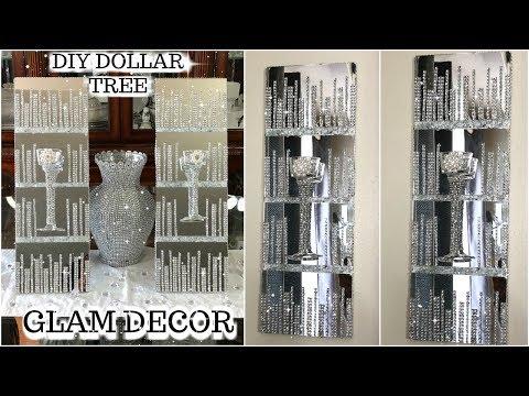 DOLLAR TREE DIY GLAM MIRRORED WALL SCONCES | DIY GLAM HOME DECOR IDEAS