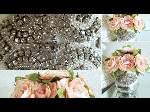 DIY | GLAM HOME DECOR | CANDLE HOLDER – FLORAL DECOR | QUICK AND EASY DIY 2019