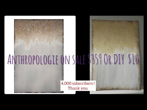 DIY Anthropologie Dupe wall art dollar tree supplies home decor #dollartreediy #decoronabudget