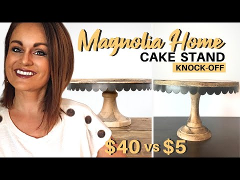 Rustic Cake Stand | Magnolia Home Decor | Farmhouse Cake Stand (DIY)