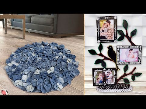 8 DIY Room Decor and Useful Craft Ideas !!! Jeans Idea