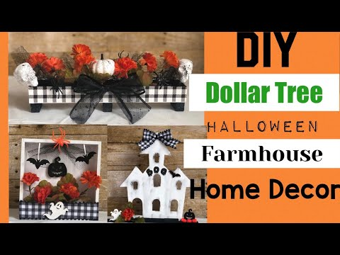Dollar Tree DIY | Halloween Farmhouse Home Decor
