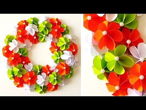 DIY. Simple Home Decor. Wall Decoration. Hanging Flower. Paper Craft Ideas 1008