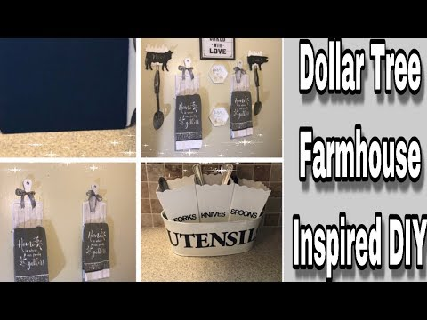 DOLLAR TREE DIY! Farmhouse Inspired Home Decor// MARIE'S DIY