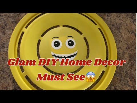 Glam DIY Home Decor: Dollar Tree DIY Mirror Wall Decor Easy Project Elegance For Less 2019