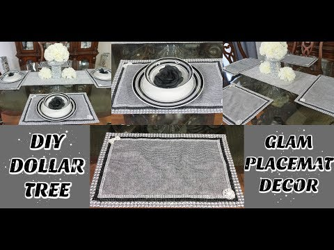 DIY DOLLAR TREE GLAM PLACEMATS | DIY EASY & INEXPENSIVE GLAM TABLE HOME DECOR IDEAS