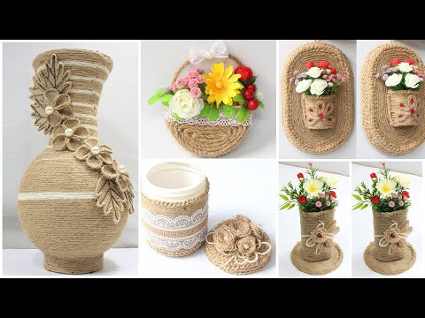 5 Jute craft ideas | Home decorating ideas handmade
